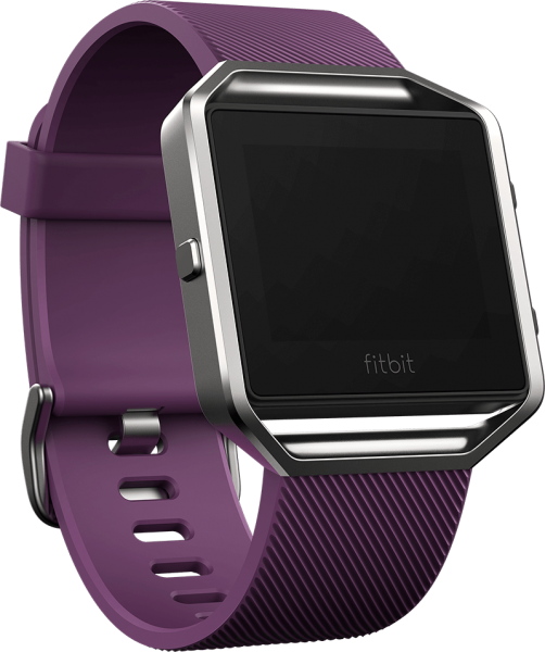 FITBIT BLAZE SMART FITNESS WATCH - PLUM SILVER (S)1